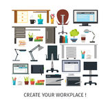 创造内部工作地点象集合 向量例证