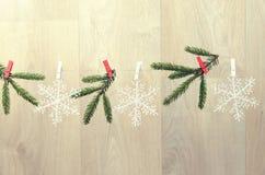 创造室内圣诞节装饰 库存照片