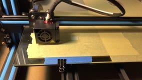创造工具的三维3d打印机 股票录像