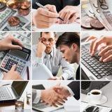 创造性企业的拼贴画 免版税库存图片