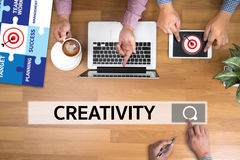 创造性创造性和设计想法的革新过程crea 免版税库存照片