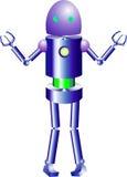创造性和智能机器人 库存图片