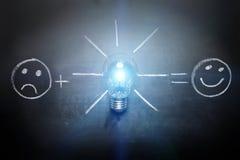 创造性在黑板的概念凹道 免版税库存照片
