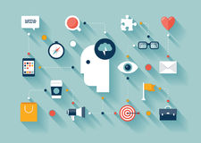 创造性思为和群策群力想法 免版税库存图片