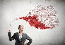 创造性思为 免版税图库摄影