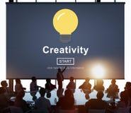 创造性想法启发创新浓缩解答的技术 免版税库存照片