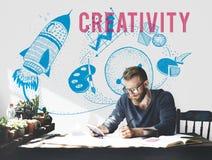 创造性想法想象力电灯泡概念 免版税库存照片