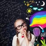 创造性教育和儿童想法概念 免版税图库摄影
