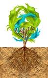 创造性树  免版税库存照片