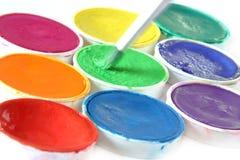 创造性画笔的颜色 图库摄影