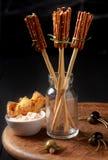 创造性的万圣夜快餐和开胃菜 库存照片