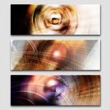 创造性的三倍抽象横幅集合 库存照片