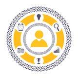 创造性的不同的企业标志 免版税库存照片