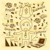 创造性的与商人的企业infographic元素 免版税库存照片