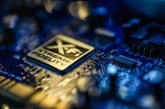 创造性的与XFI商标的实验室合理的爆裂药板 图库摄影