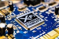 创造性的与XFI商标的实验室合理的爆裂药板 免版税库存照片