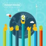 创造性的世界人群资助构思设计 免版税图库摄影