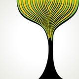 创造性的主街上结构树背景 免版税库存照片