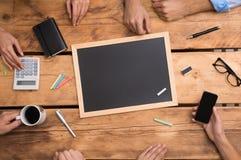 创造性的事务的空白的黑板 库存照片