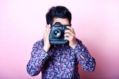 创造性的亚裔摄影师 库存照片