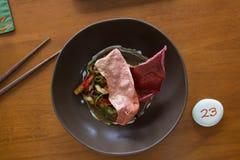 创造性的亚洲食物在巴厘岛,印度尼西亚 库存图片