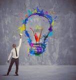 创造性的企业想法 免版税库存照片