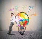 创造性的企业想法 免版税图库摄影