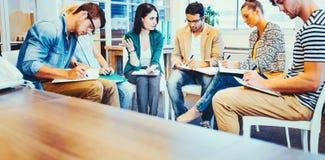 创造性的企业队在会议 免版税图库摄影