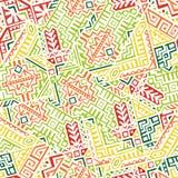 创造性的传染媒介几何无缝的样式 皇族释放例证
