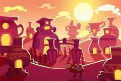 创造性的例证和创新艺术:背景设置了7 :沙漠丝绸之路向中国 库存例证