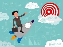 创造性的例证开始企业元素 免版税库存图片