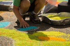 创造性的儿童图画米五谷街道 图库摄影