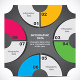 创造性的减速火箭的infographic设计 库存照片