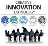 创造性的创新技术想法启发概念 免版税库存照片