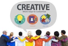 创造性的创新视觉启发定做概念 免版税图库摄影