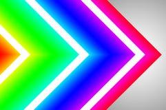 创造性的动态抽象/发光的霓虹背景 库存图片