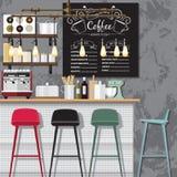 创造性的咖啡店 免版税库存图片