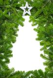 创造性的圣诞树边界 库存图片