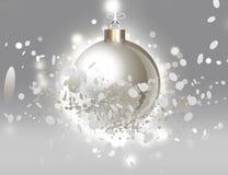 创造性的圣诞节球 皇族释放例证