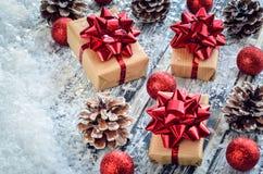 创造性的圣诞节装饰 免版税库存照片
