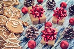 创造性的圣诞节装饰 免版税库存图片
