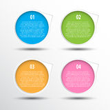 创造性的工作的五颜六色的圈子横幅 库存照片