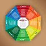 创造性的工作的Infographic传染媒介 免版税库存图片