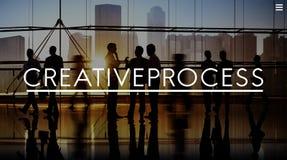 创造性的工艺流程设计突发的灵感想法的视觉想法概念 免版税库存图片