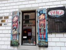创造性的快门,陈列室在布拉索夫老镇  库存图片