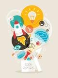 创造性的想法例证 免版税库存照片