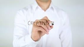创造性的想法是您的燃料,在玻璃的人文字 股票录像