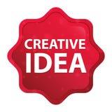 创造性的想法有薄雾的玫瑰红的starburst贴纸按钮 皇族释放例证