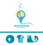 创造性的想法电灯泡天才概念 皇族释放例证