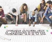 创造性的想法设计草稿图表概念 免版税库存图片
